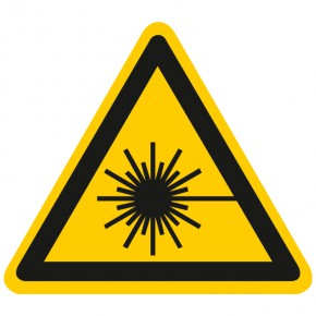 Warnschild Warnung vor Laserstrahl