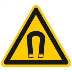Warnschild Warnung vor magnetischem Feld
