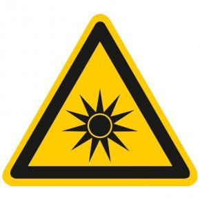 Warnschild Warnung vor optischer Strahlung