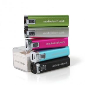 USB Zusatz-Akku für Smartphone 2600mAh - neutral mit Logodruck oder individueller Gestaltung