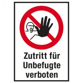 Zutritt für Unbefugte verboten - Warnschild - Forex