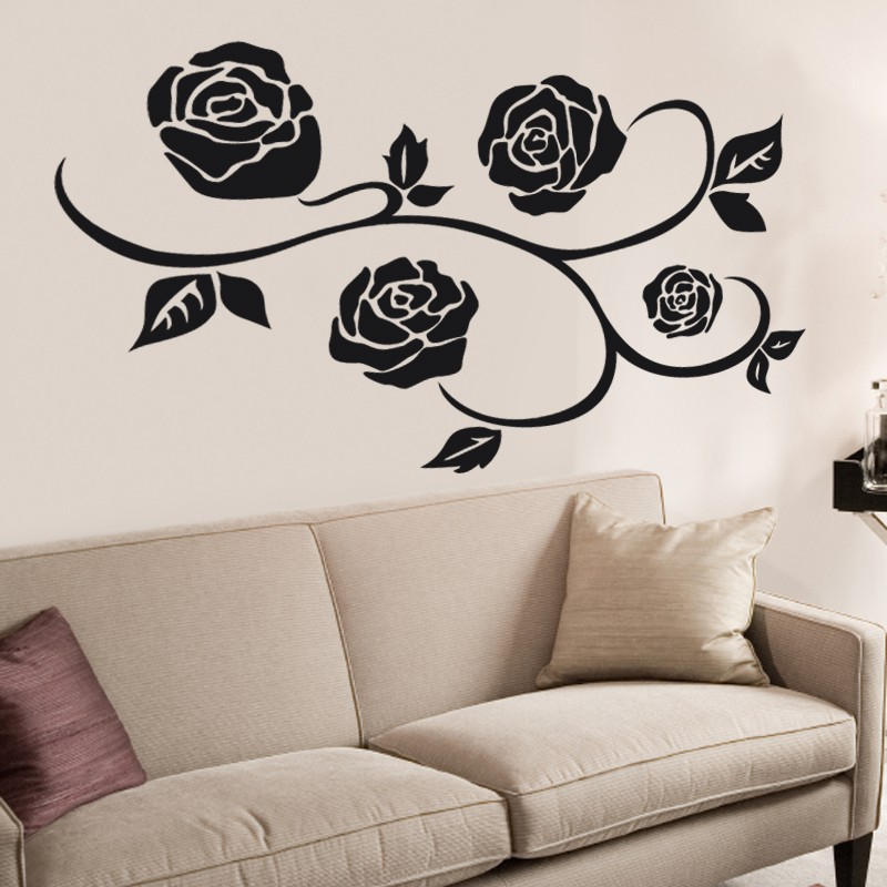 wandtattoo rosen hier g nstig kaufen. Black Bedroom Furniture Sets. Home Design Ideas