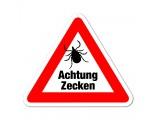 Achtung Zecken - Warnschild - Forex 3mm