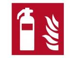 Feuerlöscher - Brandschutzschild