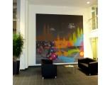 Wandbild Textildruck