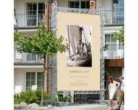 Freisteher SignWare Outdoor 450 x 450 cm - Besfestigungssystem