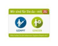 Poster oder Hinweisschild - Geimpft / Genesen (2G) - grün