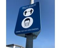 360 Grad Plakat - DIN A1 -  Hygienehinweis - Anwendung
