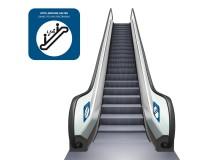 Abstand halten - Rolltreppe - Aufkleber oder Forex-Schild