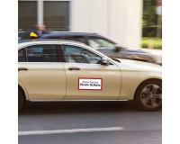 Aufkleber - Dieses Fahrzeug / Taxi hat Viren-Schutz - 40 x 20 cm