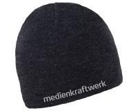 """Beanie """"Melange"""" inkl. Logo-Stick - schwarz"""