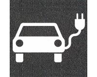 Fahrbahnmarkierung - Symbol Elektroauto - Asphaltaufkleber
