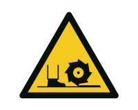 Warnschild Warnung vor Fräswelle - W022
