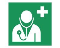 Rettungsschild Arzt - E009