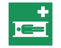 Rettungsschild Krankentrage - E013