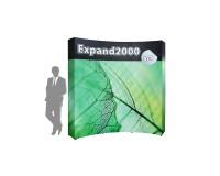 Expand 2000 3x3 gebogen Faltdisplay mit flachen Endkappen