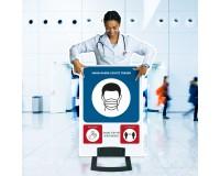 Figur-Aufsteller mit Hygienehinweisen - Motiv 1 - Abstand halten