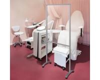 Hygiene-Schutzwand mit Rollen und Plexiglas-Schutz - Pediküre - Beauty Studio