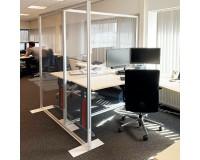 Hygieneschutz Trennwand - PVC - Anwendungsbeispiel - Büro