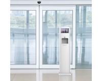 Hygienestation 10 Liter inkl. Werbe-Monitor - Anwendungsbeispiel