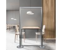 Hygienewand / mobile transparente Schutzwand - Anwendungsbeispiel -Starteinheit - Restaurant