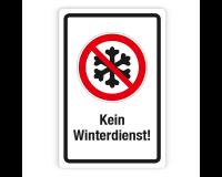Schild - Kein Winterdienst (2) auf Forex