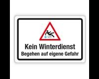 Schild - Kein Winterdienst - Begehen auf eigene Gefahr auf Forex