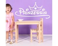 Wandaufkleber Prinzessin