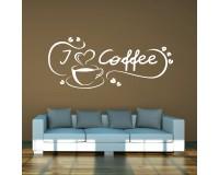 Wandtattoo I love Coffee