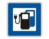 Ladestation für Elektrofahrzeuge - Hinweisschild
