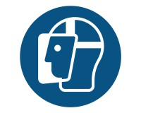 Gesichtsschutz benutzen - M013 - Gebotsschild