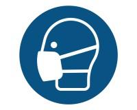 Leichten Atemschutz / Maske benutzen - M016 - Gebotsschild