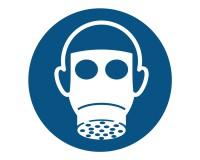 Gebotsschild Atemschutz benutzen - M017
