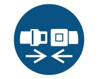 Gebotsschild Sicherheitsgurt / Rückhaltsystem anlegen - M020