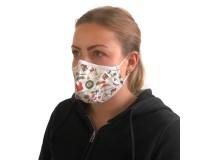 Mund-Nasen-Maske mit Nasenbügel individuell bedruckt