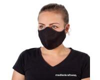 Mund-Nasen-Maske mit Filtertasche schwarz