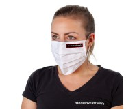 Mund-Nasen-Maske OP-Optik weiß waschbar - individuell bedruckt
