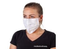 Mund-Nasen-Maske /  Alltagsmaske / Behelfsmaske - OP-Optik - waschbar