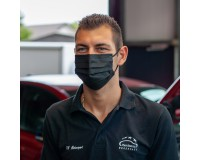 Mund-Nasen-Maske 3-lagig schwarz - Einweg