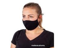 Mund-Nasen-Maske SPORT antibakteriell - schwarz