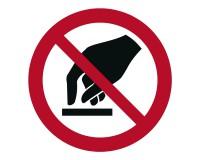 Verbotsschild Berühren verboten - P010