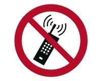 Verbotsschild Mobilfunk verboten - P0013