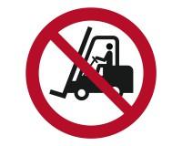 Verbotsschild Flurförderfahrzeuge verboten - P006