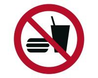 Verbotsschild Essen und trinken verboten - P022