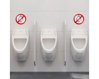 Pissoir / Urinal gesperrt - Aufkleber - 20 cm Durchmesser