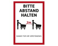 """Poster """"Bitte Abstand halten"""" für Kundenstopper DIN A1 auf PVC-Plane"""
