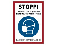 "PVC-Plane ""Stopp! Mund-Nasen-Maske Pflicht"" - DIN A1"
