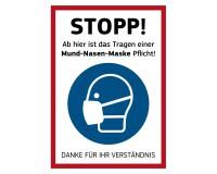 """Poster """"Stopp! Mund-Nasen-Maske Pflicht"""" - DIN A1"""