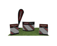 Promotionstand Outdoor Set 1 - Werbefahne, Outdoortheke und Kundenstopper