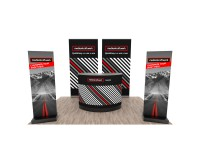 Promotionstand Set 4 - RollUp Displays, Infostelen und Promotiontheke
